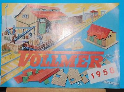 Vintage  - Vollmer Catalogue - 1958 - Railway Buildings & Accessories Etc