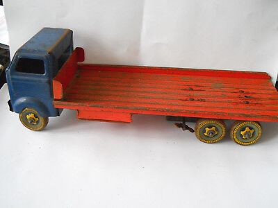VINTAGE LARGE  CLOCKWORK  FLATBED TRUCK  1960s