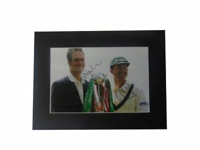Michael Vaughan + Ricky Ponting Signed Ashes 2005 'captains' Display + *coa*