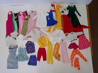 Large Lot Of Vintage Barbie Clothes Some Clone Pieces And Handmade