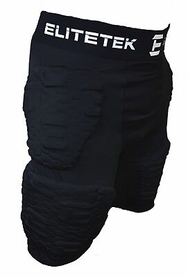 EliteTek Padded Compression Shorts PS16 Youth and Adult Sizes