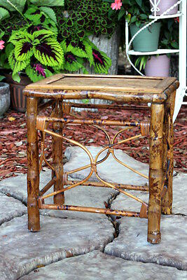 Vintage Bamboo Table Plant Stand