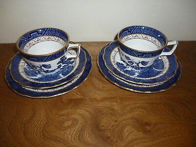 booths real old willow Breakfast Trio Set  x 2   A8025