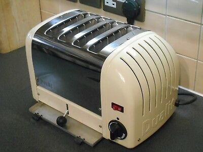 Superb Dualit 4 Slice Cream Polished Four Toaster 40354 4Slgb Extra Wide Slots