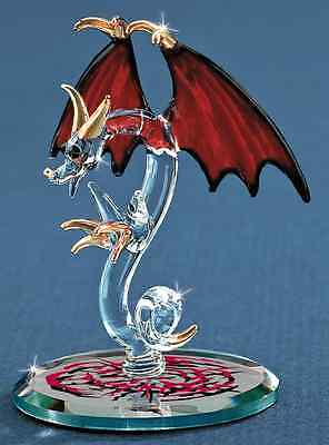 Glass Baron ~ Dragon Tiny Terror ~ Crystal Eyes & 22kt gold Accents - New in Box