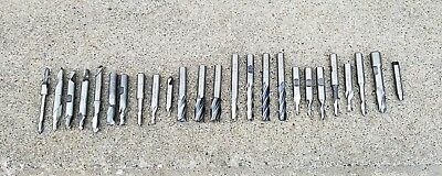 (25)Lathe Mill Cutting Tools End Mills Machinist- UNION, MELIN, CLEVELAND, P&W