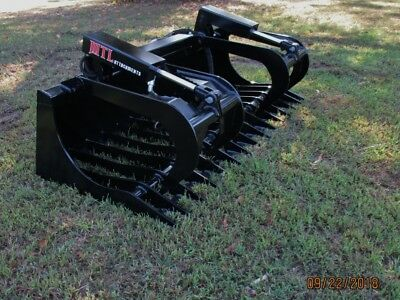 "MTL Attachments HD 78"" Skid Steer Rock Grapple Bucket Twin Cylinder -$149 ship"