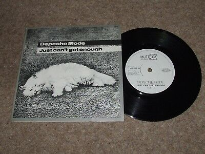 DEPECHE MODE = JUST CAN'T GET ENOUGH 1981 PICTURE SLEEVE 7inch RELEASE