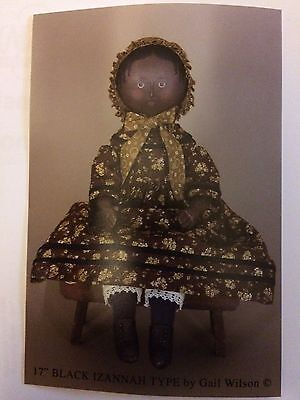 """New in Package Gail Wilson 17"""" Black Izannah Walker Doll Kit-Sold Out Ed"""