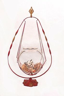 Art Nouveau Miller Hanging Fishbowl and Stand c. 1900