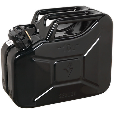 Sealey Metal Jerry Can 10l Black
