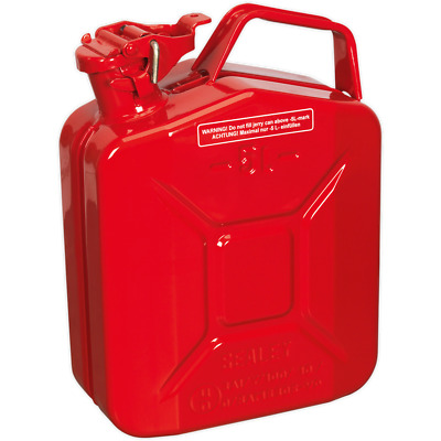 Sealey Metal Jerry Can 5l Red