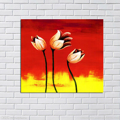 Hand-painted Abstract Flowers canvas oil painting Home Decor