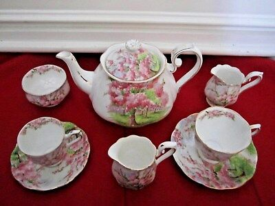 Vintage Royal Albert Blossom Time Bone China England 8 Piece Lot Tea Set