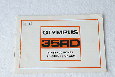 Vintage Olympus 35Rd Instruction Book/manual