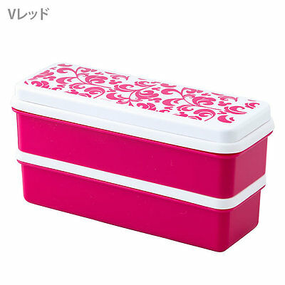 New Mickey Mouse silicon two-stage lunch box Red SSLW6 Bentou from Japan