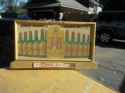 """Very Rare """"justerini&brooks Jb Scotch"""" Lighted Beer Sign Great Graphics"""