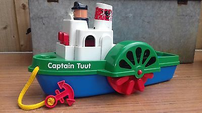 Vintage pull a long toy.paddle steamer.Captain Tuut . West Germany.barnfind