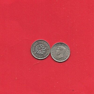 1937=1941 SILVER Threepence CHOICE OF YEAR/DATE GEORGE VI