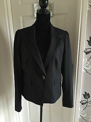 Debenhams Collection Ladies Black Tailored Jacket Size 14 **NEW** RRP £35