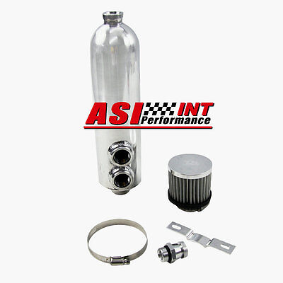 1250ml 1.25L Aluminium TURBO ENGINE RACING OIL BREATHER CATCH TANK CAN UK STOCK