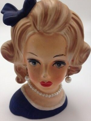 VINTAGE Lady Head Vase Napcoware Import Japan
