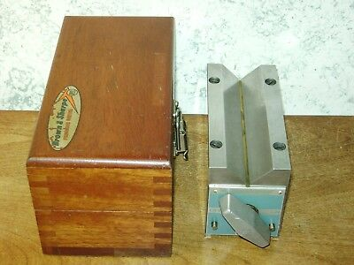 BROWN & SHARPE PERMANENT MAGNETIC V BLOCK NO 750-D w/ BOX