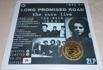 """THE CURE  Ultra-Rare Blue & Brown Vinyl 2LPs """"LONG PROMISED ROAD""""  SUPERB ITEM !"""