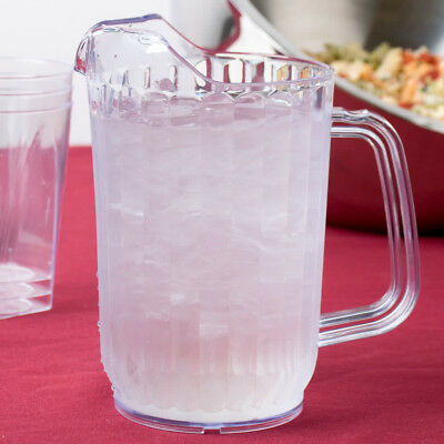 Set of 6 Choice 32 oz Clear SAN Plastic Beverage Pitchers Free Shipping USA Only