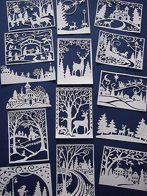 Christmas Scene die cuts