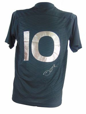 Dan Carter Signed New Zealand All Blacks Rugby Shirt+Photo Proof*see Him Sign*