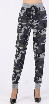 Womens Camo Leggings Jogging Yoga Sports Gym Pants Trousers Tactical Athletec