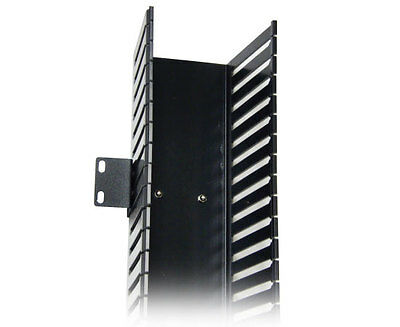 7' Vertical Cable Manager w/ Finger Ducts Cable Organizer, Black - PP4-3859-7DCM