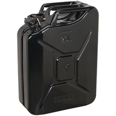Sealey Metal Jerry Can 20l Black