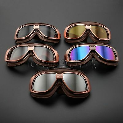 Motor Anti-UV Dust Fog Smoke Goggles Aviator Pilot Cruiser Scooter Biker Glasses