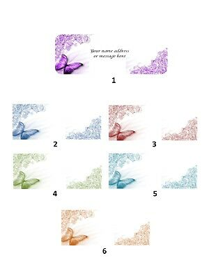 Personalized address labels butterflies Buy 3 get 1 free (xbo 359)