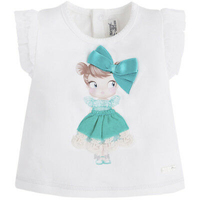 6fa84de56 MAYORAL BABY GIRLS 3M-24M 3-D Girl Doll Graphic Print Knit Top Tee ...