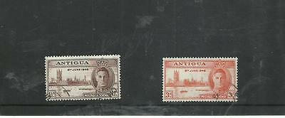 Antigua 1946 Victory fine used set Stamps on piece