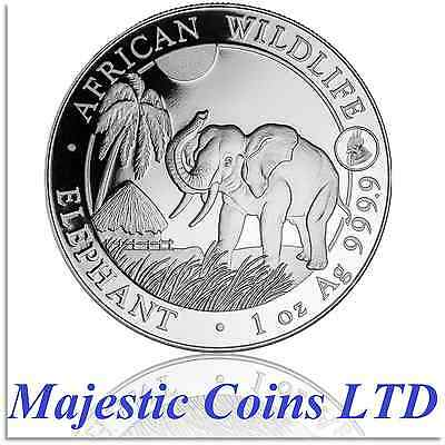 2017 Somalia Elephant Silver African Wildlife 1 Oz Rooster Privy