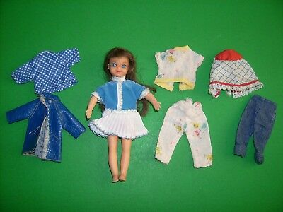Vintage Tutti doll with clothes outfits 1960's 1970s Fashions Vintage Barbie