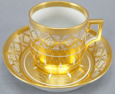 Imperial Porcelain Manufactory Royal Vienna Heavily Gilt Coffee Cup C 1815 - 27