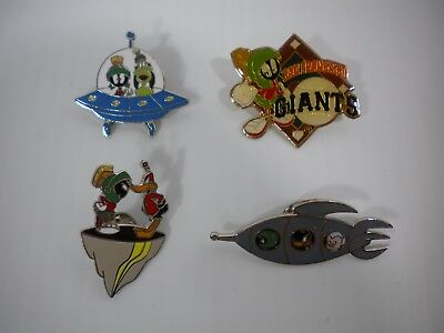 Vintage Lot of 4 90's Marvin the Martian Enamel Pins Looney Tunes Free Shipping!