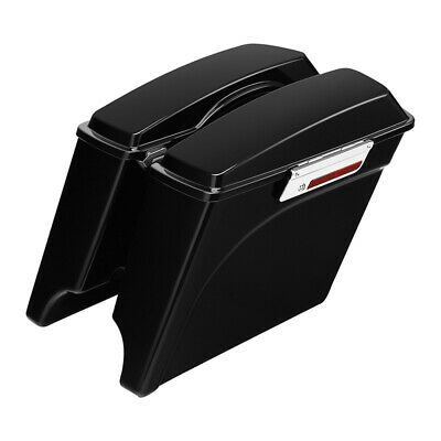 "5"" Stretched Extended Hard Saddle Bags For Harley Street Glide Road King 93-13"