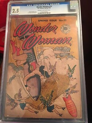Wonder Woman Golden Age Comic Book  Spring Of 1945.  CGC Graded 2.5
