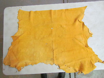 "Beautiful Native American Commercially Tanned Leather Hide Soft 30"" In By 23"" In"