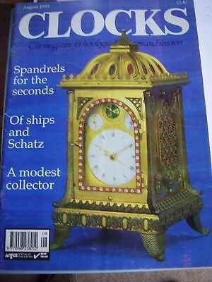 Clocks Horological Magazine - August 1993 Of Ships And Schatz Spandrels Tompion