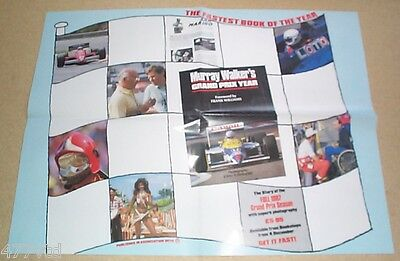 MURRAY WALKERS GRAND PRIX YEAR. 1987 with NIGEL MANSELL & FRANK WILLIAMS POSTER