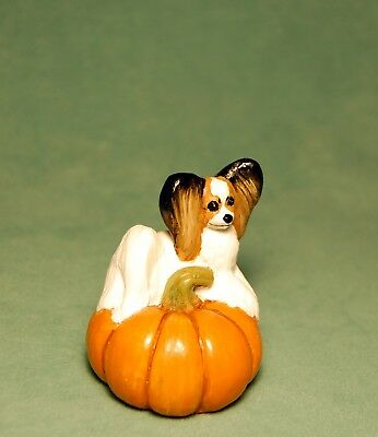 Papillon Pumpkin Original Sculpture