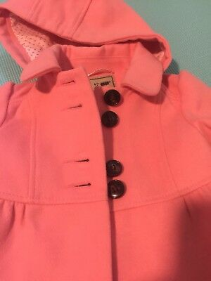 Girl's Toddler Pink Winter Lined Dress Coat Sz 12-18 Months