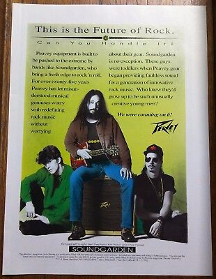 Soundgarden / Chris Cornell / Peavey Guitar Monitors Magazine Ad + Free Dvd